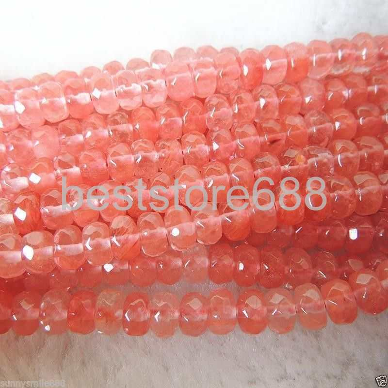 5x8mm Faceted Watermelon Tourmaline Gem loose Beads 15/""