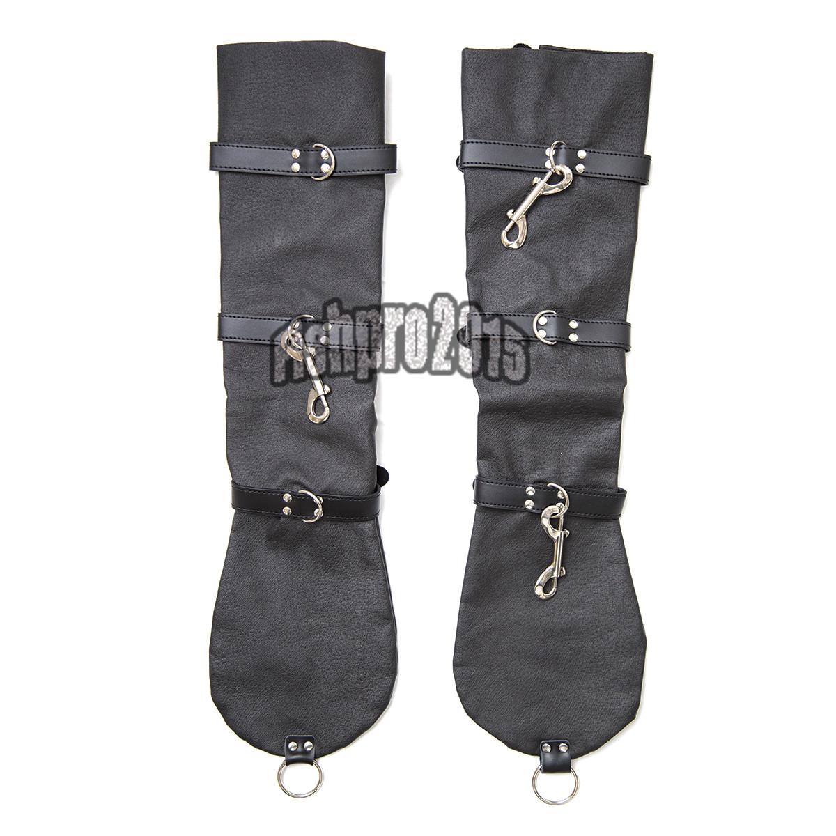 Slave Leather Arm Binder Strict Sleeves Garment Hand