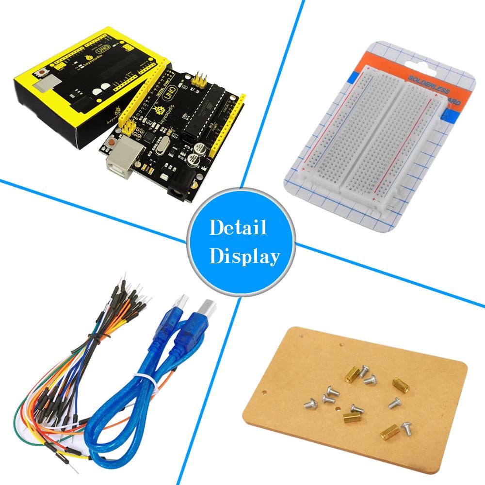 Keyestudio UNO R3 DHT11 Flame Sensor RGB LED Starter Student