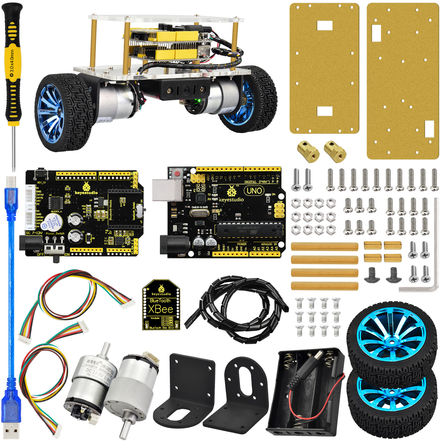 NEW Two Wheel Self Balancing Smart Balance Robot Car Kit For Arduino
