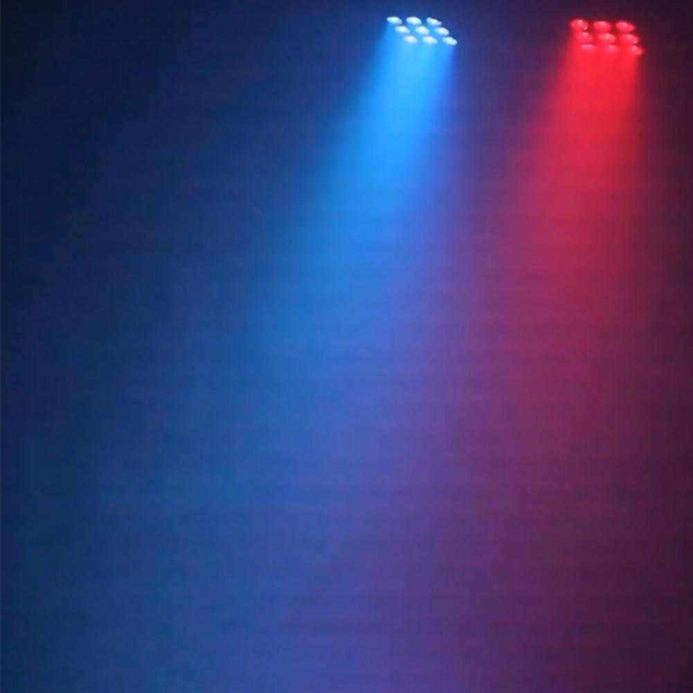 2pcs 9 Leds Rgbw Color Mixing Par Stage Light With Remote