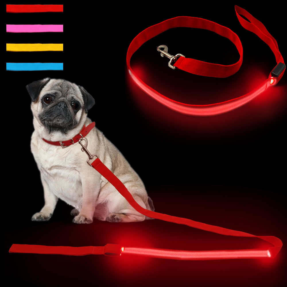 collar light customized led wholesale up nylon bulk detail dog flashing product