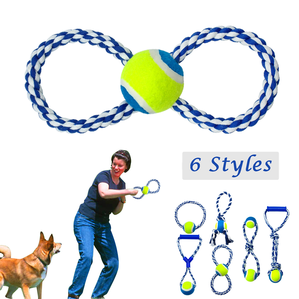Braided Rope Dog Ball Toys Lot 6pcs Gift Set Pet Ball Toys for Small Large Dogs