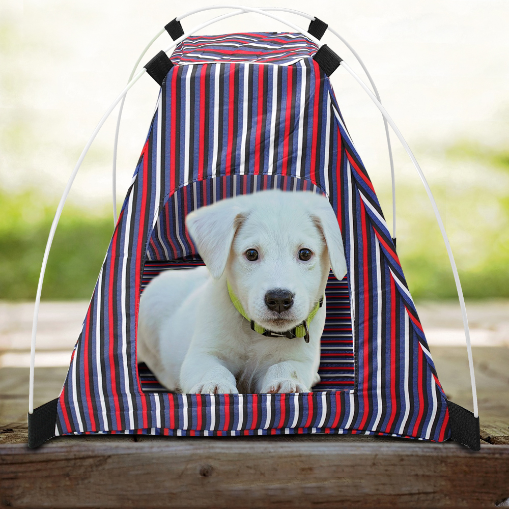 Dog Tent Oxford Portable Pet Puppy Soft Tent Playpen Dog Cat House