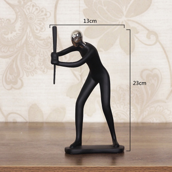 Modern Abstract Resin Sculpture Handmade Figure Statues Home