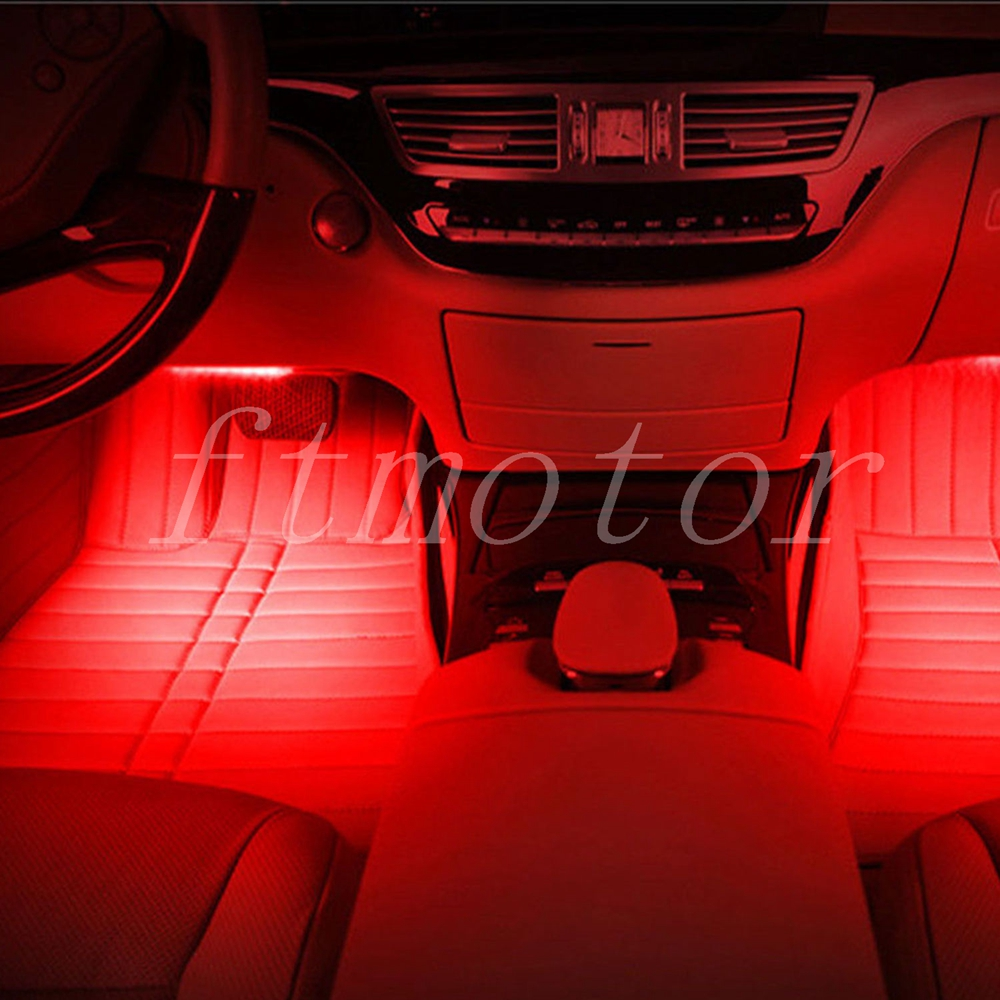 9 LED Auto RGB Atmosphäre Innenbeleuchtung Lichtleiste ...