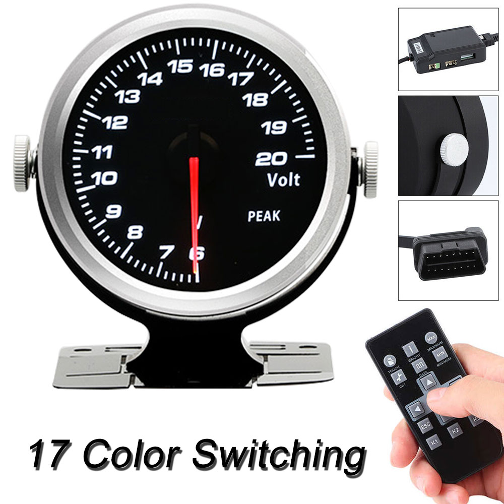 CAMMUS Universal Water Temperature Gauge Racing 60mm Tinted 17 Color OBD2 Mechanical Instrument for Car Automotive