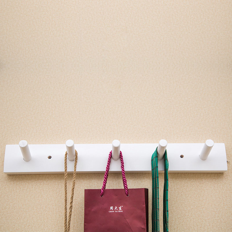Classic Tin Alloy Metal Coat Hat Wall Hook Rail Rack Hanger Organizer Hookup