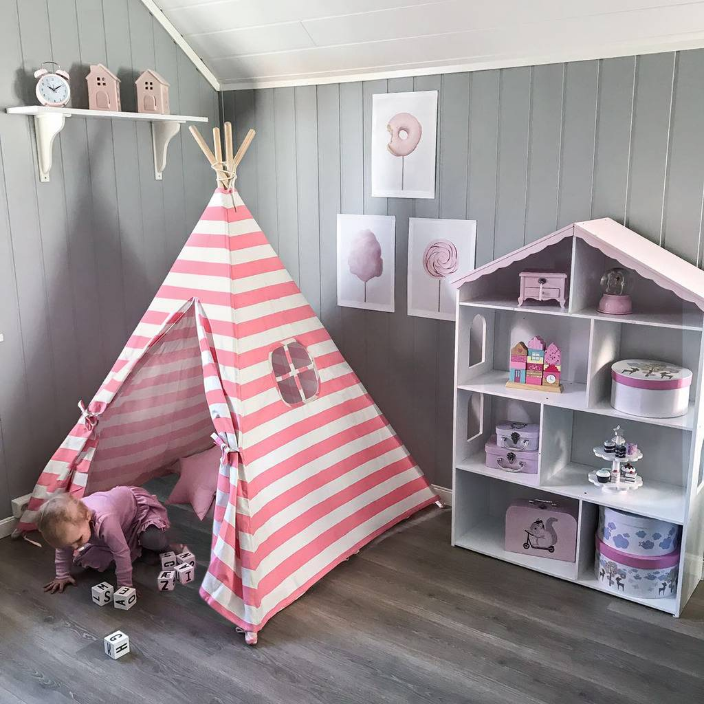 Teepee-Kids-Play-Tent-Large-100-Cotton-Wigwam-Outdoor-Toy-Birthday-Gifts thumbnail 28