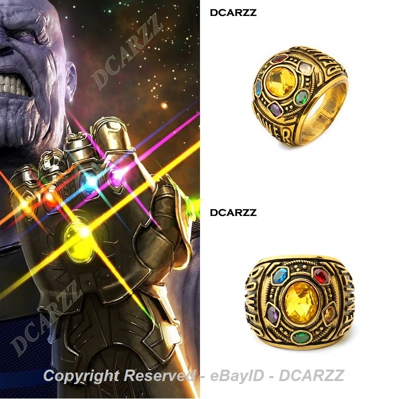 b17a2f73077ce Details about New THANOS Infinity Gauntlet POWER RING Avengers EndGame The  Infinity War Stones