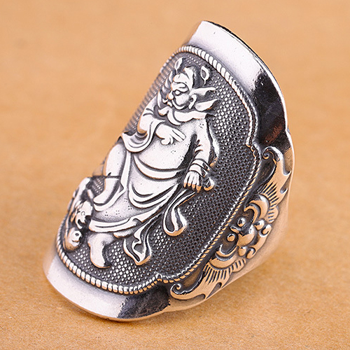 Real 990 Sterling Silver Ring ChungKuel Totem Open Size 8 9 10 11