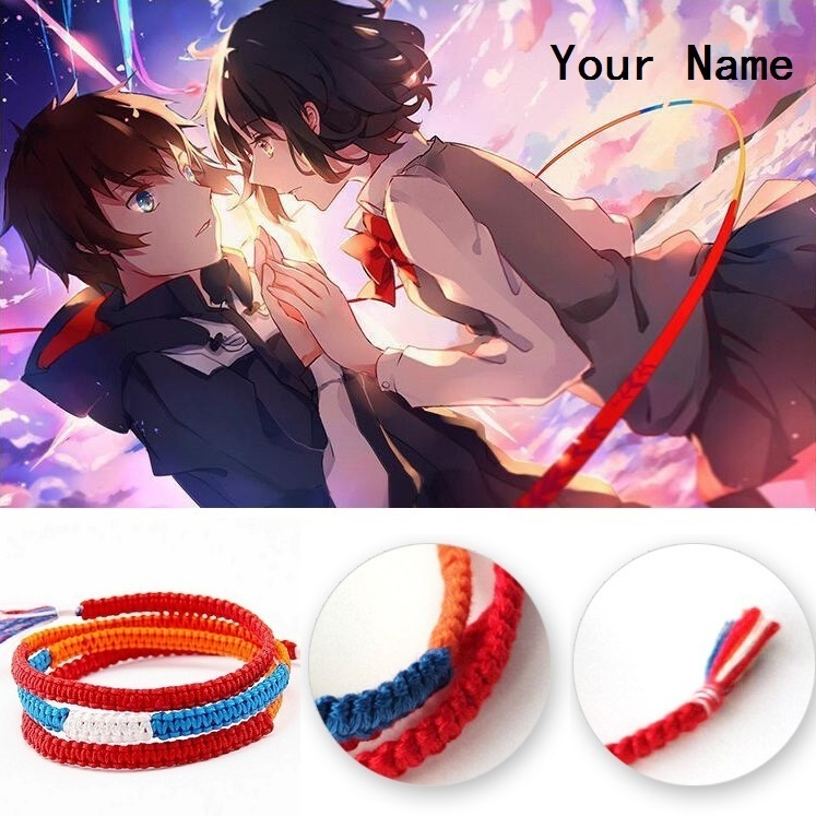 Détails sur Film Kimi no NA WA votre nom miyamizu mitsuha bracelet chaîne  bijoux Cosplay, afficher le titre d\u0027origine