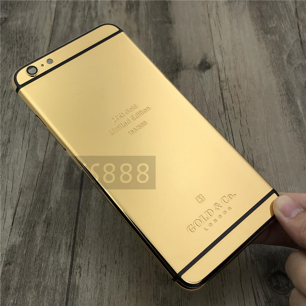 coque iphone 6 or 24k