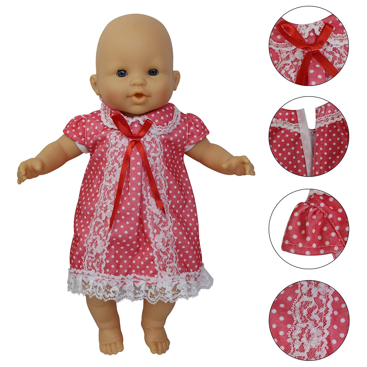 Lot 5 Set Baby Dress Cute Clothing Outfits for Alive America 18 inch Girl Doll