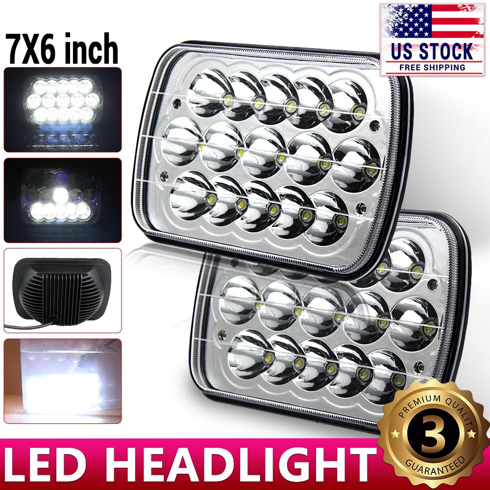 """7/""""X6/"""" LED Headlight For Freightliner FL106 FL112 FL60 FL70 FL80 FS65 MT35 MT45"""