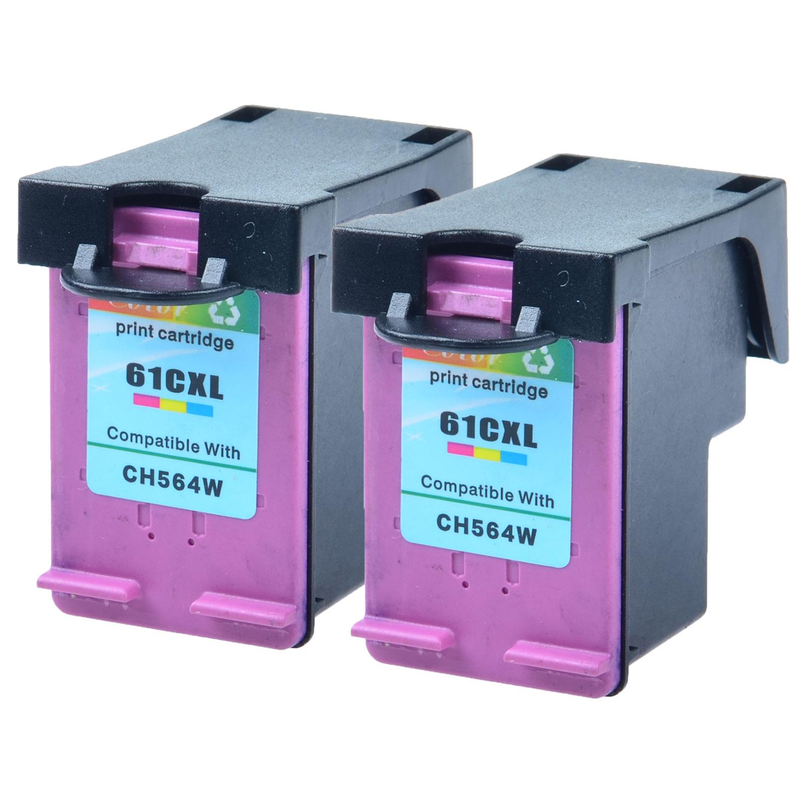 Ink Cartridge For HP 61XL Color CH564WN Deskjet 2050 2540 3000 3050 2PK Reman