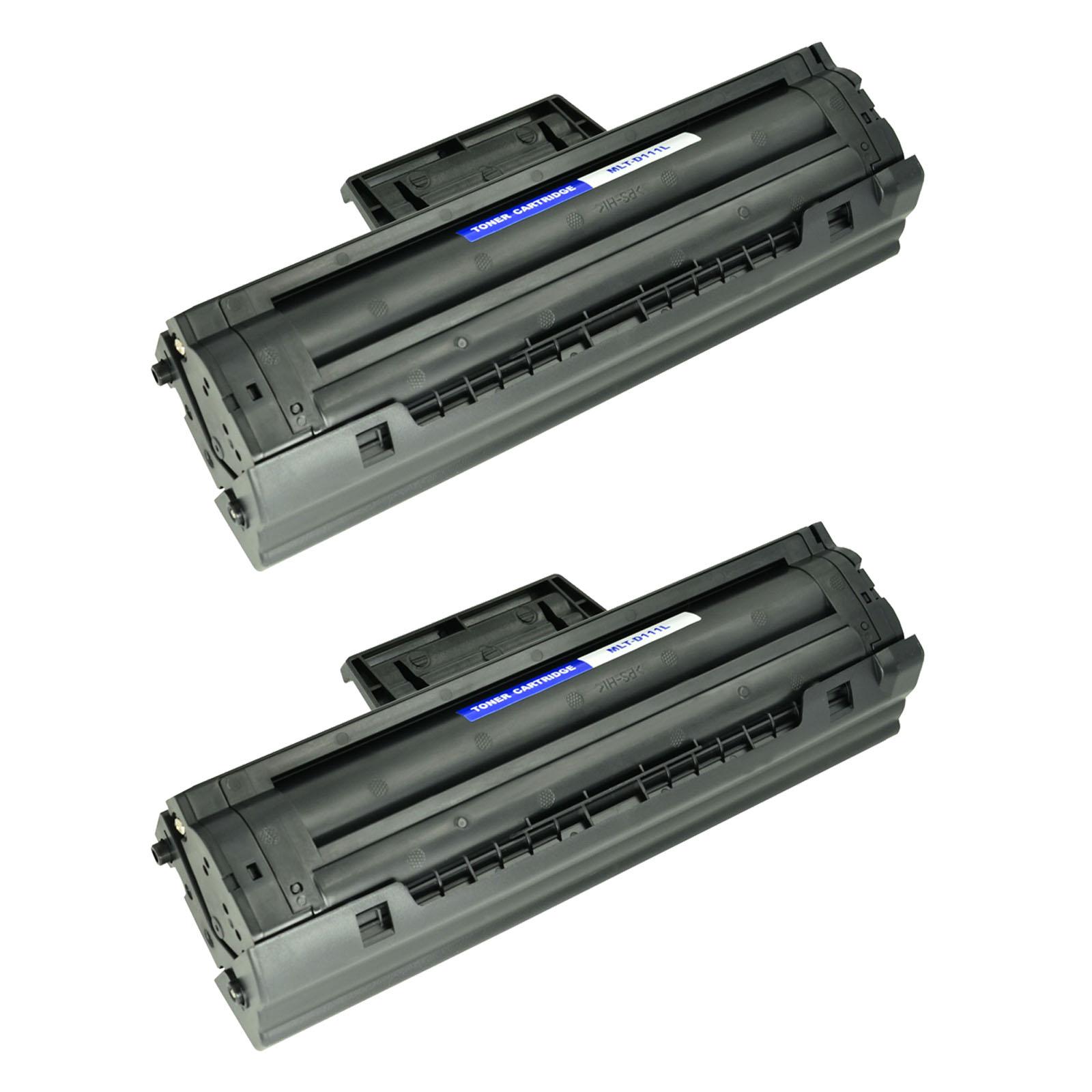 2PK MLT-D111L Black Toner Cartridge Fit For Samsung SL-M2020 SL-M2024W SL-M2020W