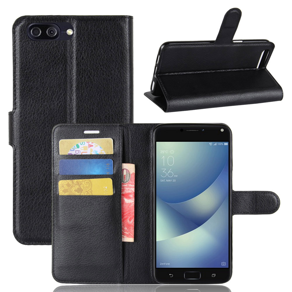 Luxury-Magnetic-Card-Wallet-PU-Leather-Case-Cover-For-ASUS-ZenFone-4-Max-ZC554K