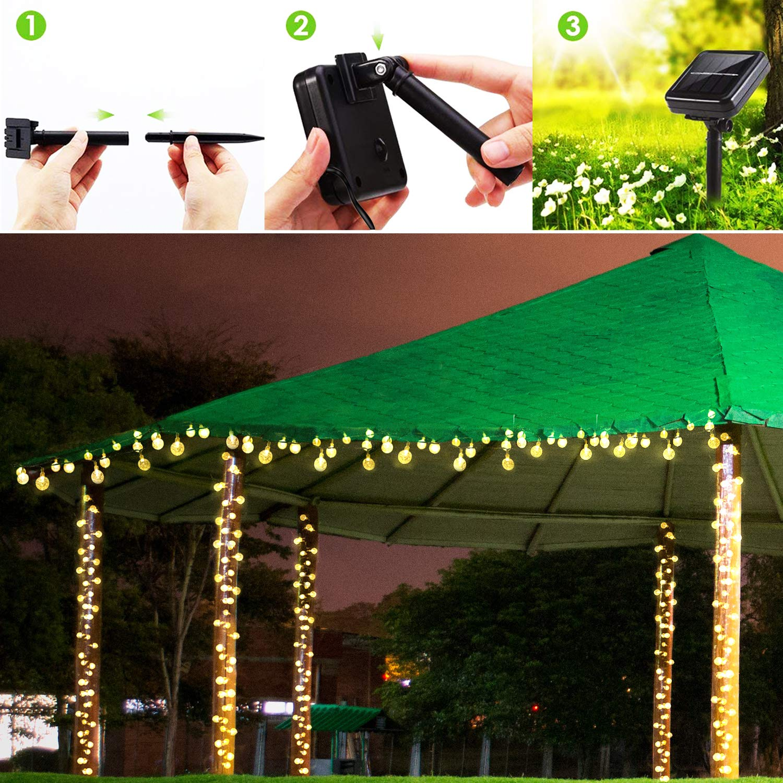 LED Solar Lichterkette Drahtlichterkette Fernbedienung Innen /& Außen Garten Deko