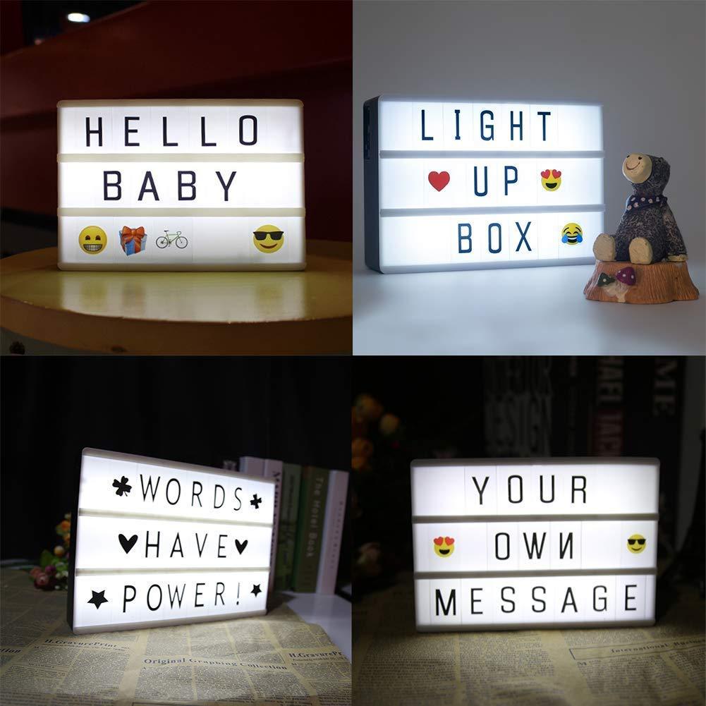 led lichtbox lightbox leuchteschild leuchtkasten buchstaben a4 batteriebetrieb ebay. Black Bedroom Furniture Sets. Home Design Ideas