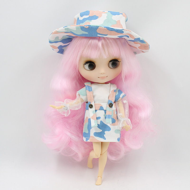 """Takara 8/"""" Joint Body Neo Pink Hair Blythe Middie Nude Doll from Factory"""