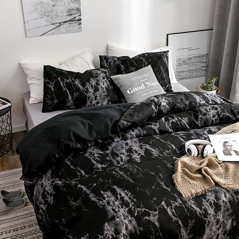 Bedding Set Soft Marble Duvet Quilt Cover Bed Pillow Case Twin Full Queen King