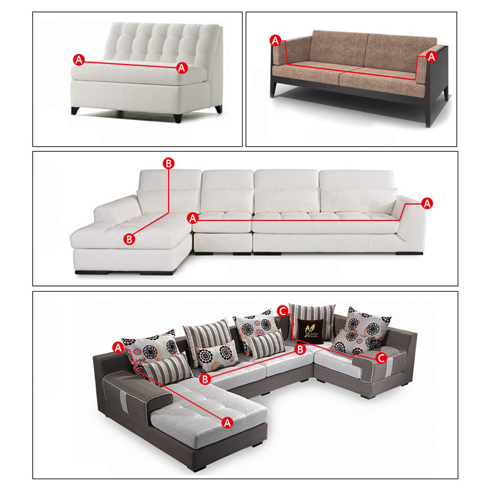 1 2 3 Seat Stretch Elastic Slipcover Sofa Cover Couch