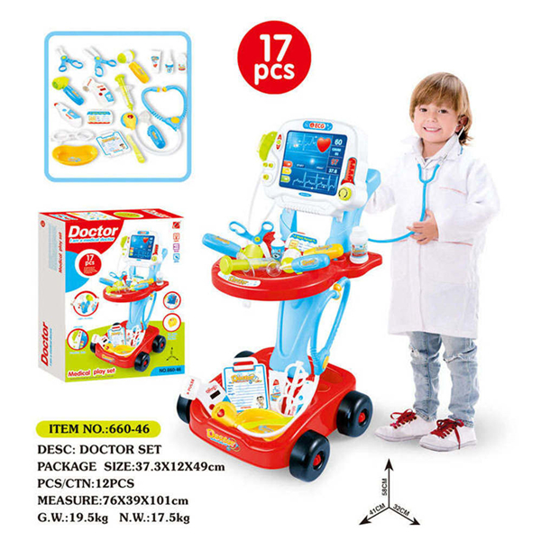 ac38645f5cf4 Details about Kids Doctor Cosplay Stethoscope Injections Children Role Play  Medicine Box Kits