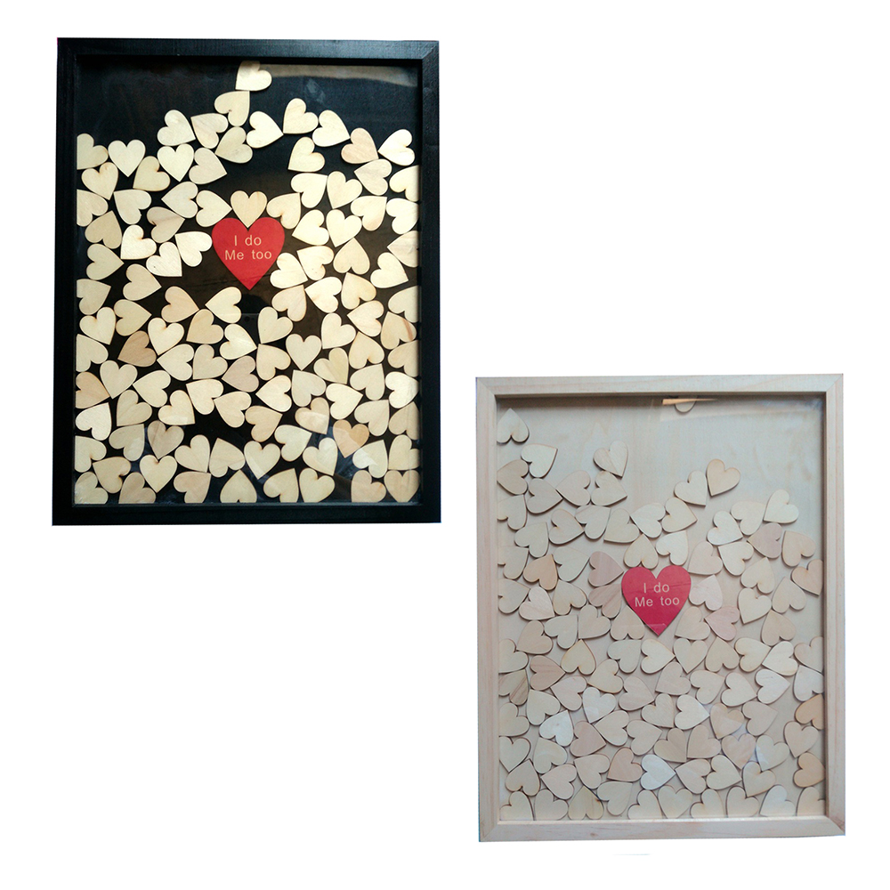 120/150 Rustic Drop Top Wooden Personalized Wedding Guest Book Frame ...