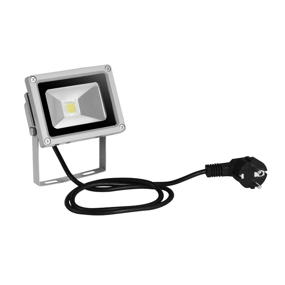 5x 10w led fluter mit stecker au en strahler lampe scheinwerfer kaltwei ip65 ebay. Black Bedroom Furniture Sets. Home Design Ideas