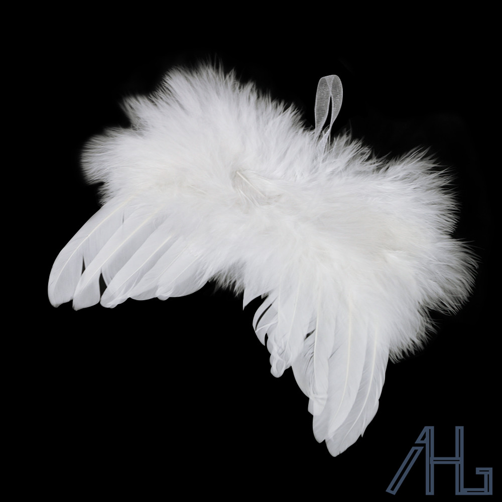 10X Guardian Angel White Feather Wing Christmas Tree Decoration ...