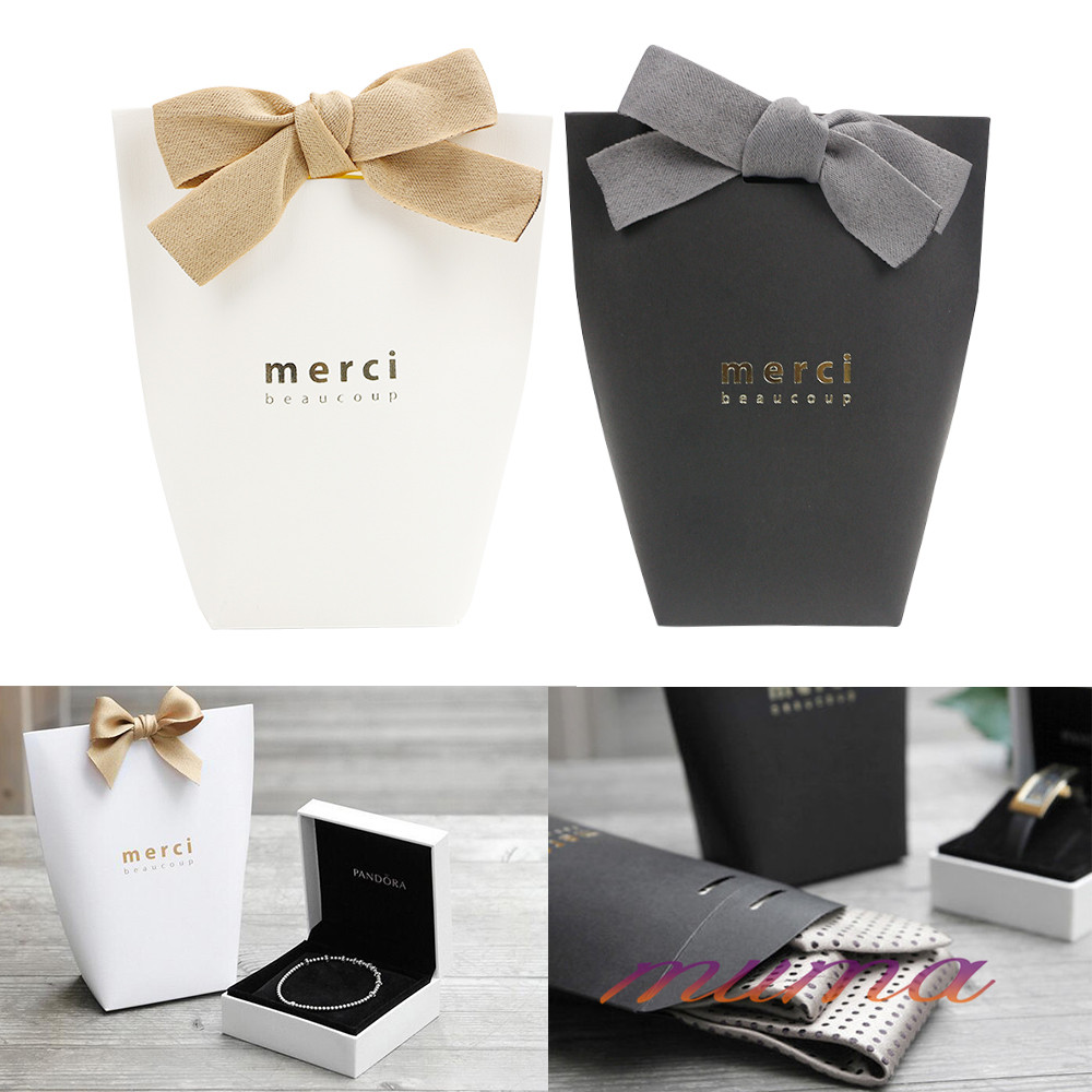 20/50X Merci Beaucoup Elegant Paper Party Wedding Favour Gift Sweet ...