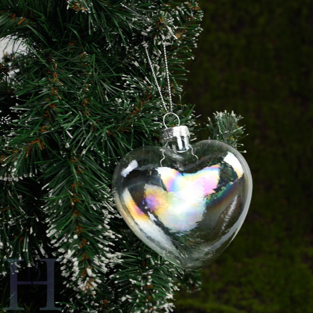 12pc Christmas Clear Glass Bauble Star Xmas Tree Ornament Wedding ...