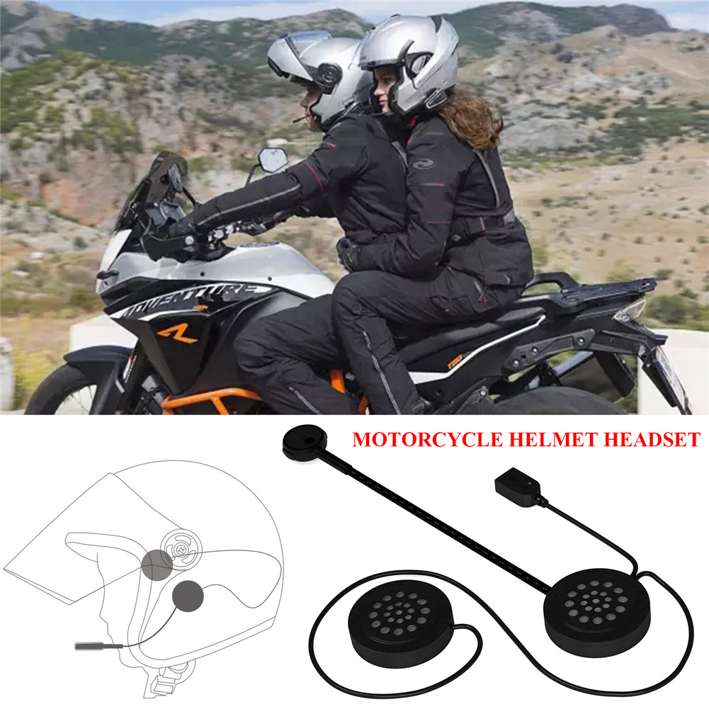 universal mh02 motorrad helm bluetooth headset kopfh rer. Black Bedroom Furniture Sets. Home Design Ideas