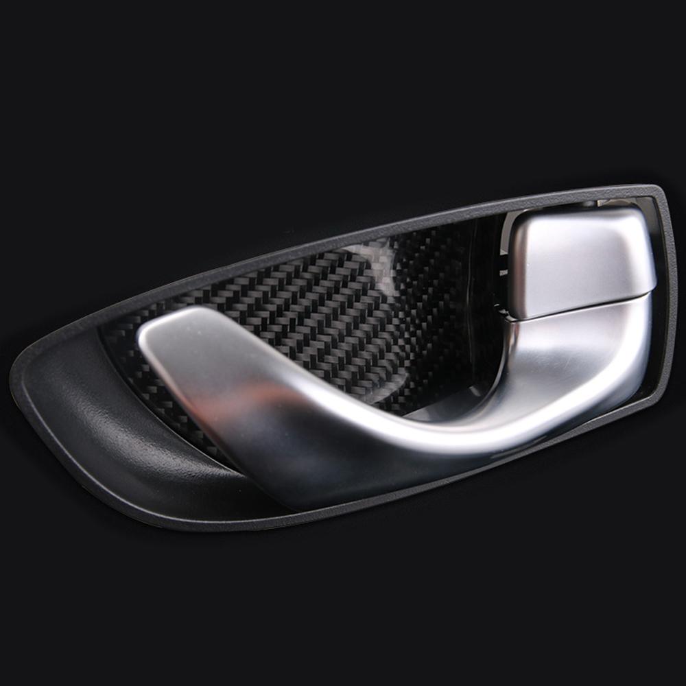 Carbon Fiber Car Interior Door Handle Panel Cover For Infiniti Q50