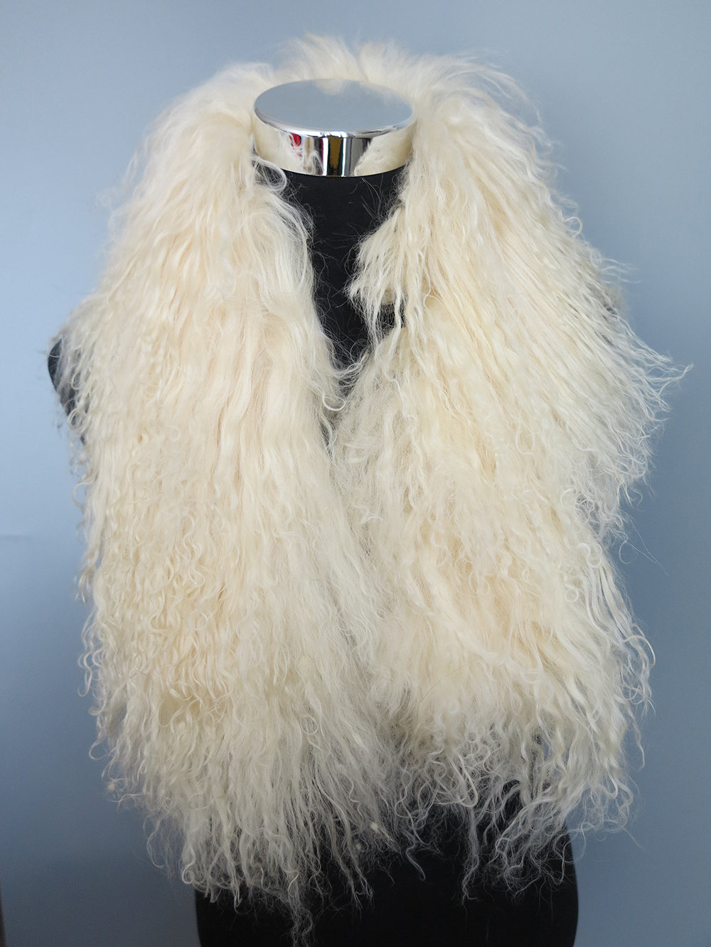 women/'s  Real  Mongolia Lamb Fur Scarf  with Clip Natural Curl of Wool 5color