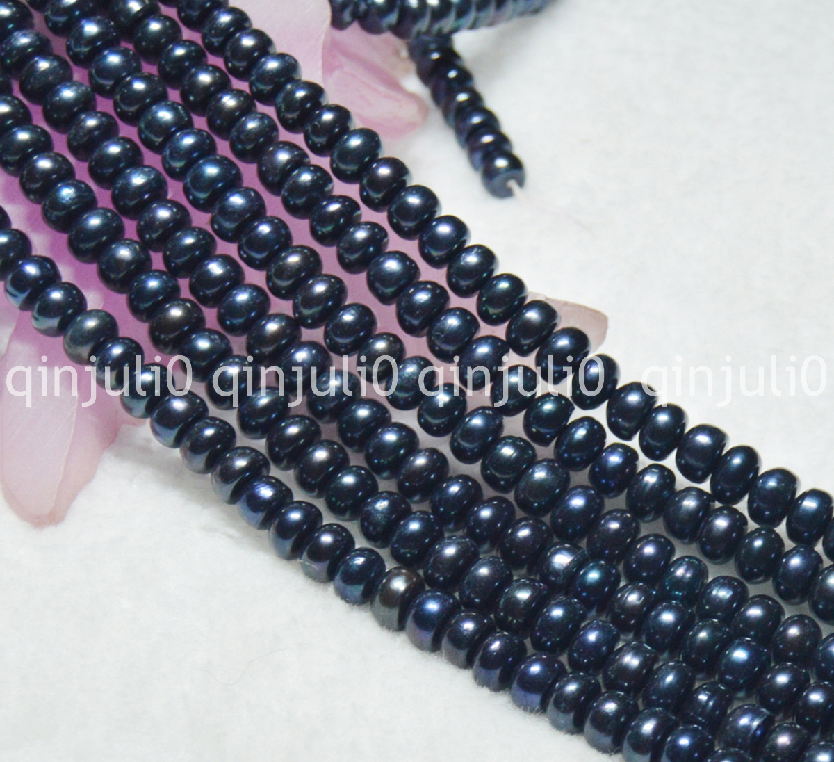 8-9mm Black Akoya Cultured Pearl Loose Beads 15/'/'