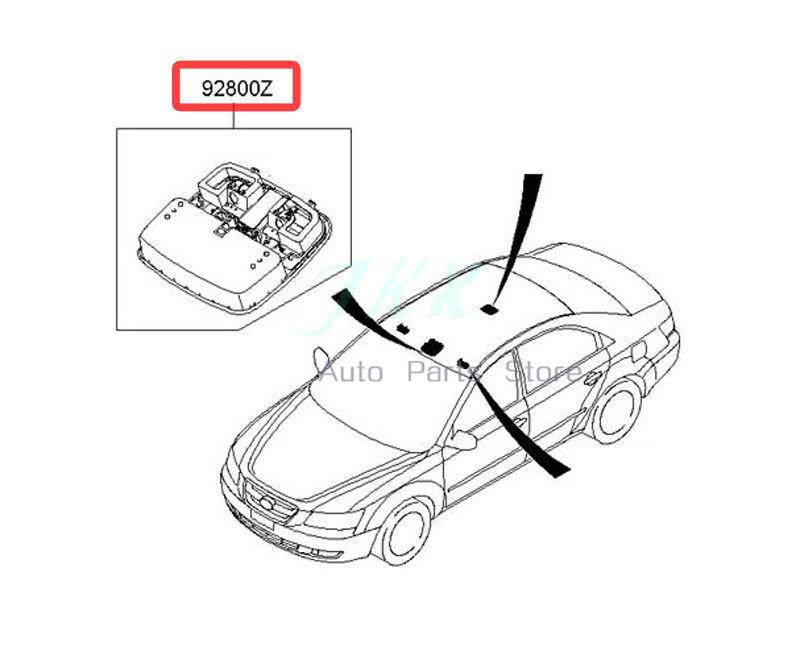 Oem 928103k001v2 Map Lamp Overhead Console Beige For Hyundai Sonata