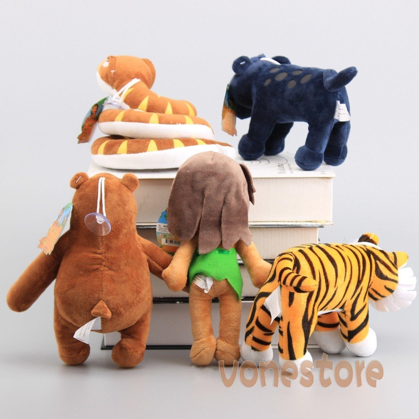 5x the jungle book plush mowgli baloo bagheera kaa shere for Classic jungle house for small animals