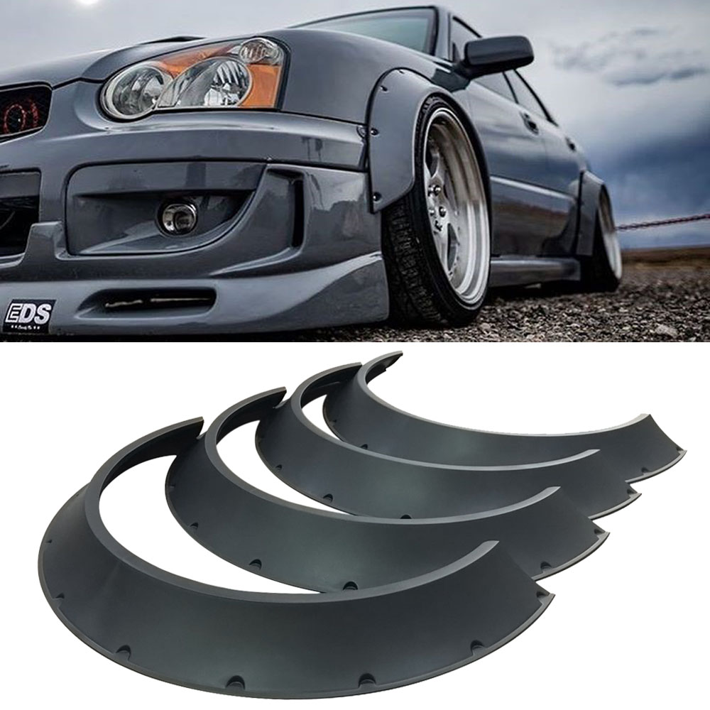 Universal Fender Flares 4 pcs 30 mm Abs Plastic Glossy 3mm