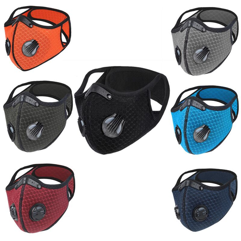 Dustproof Cycling Face Shield Mesh Filter Protective Mouth-muffle Breathable