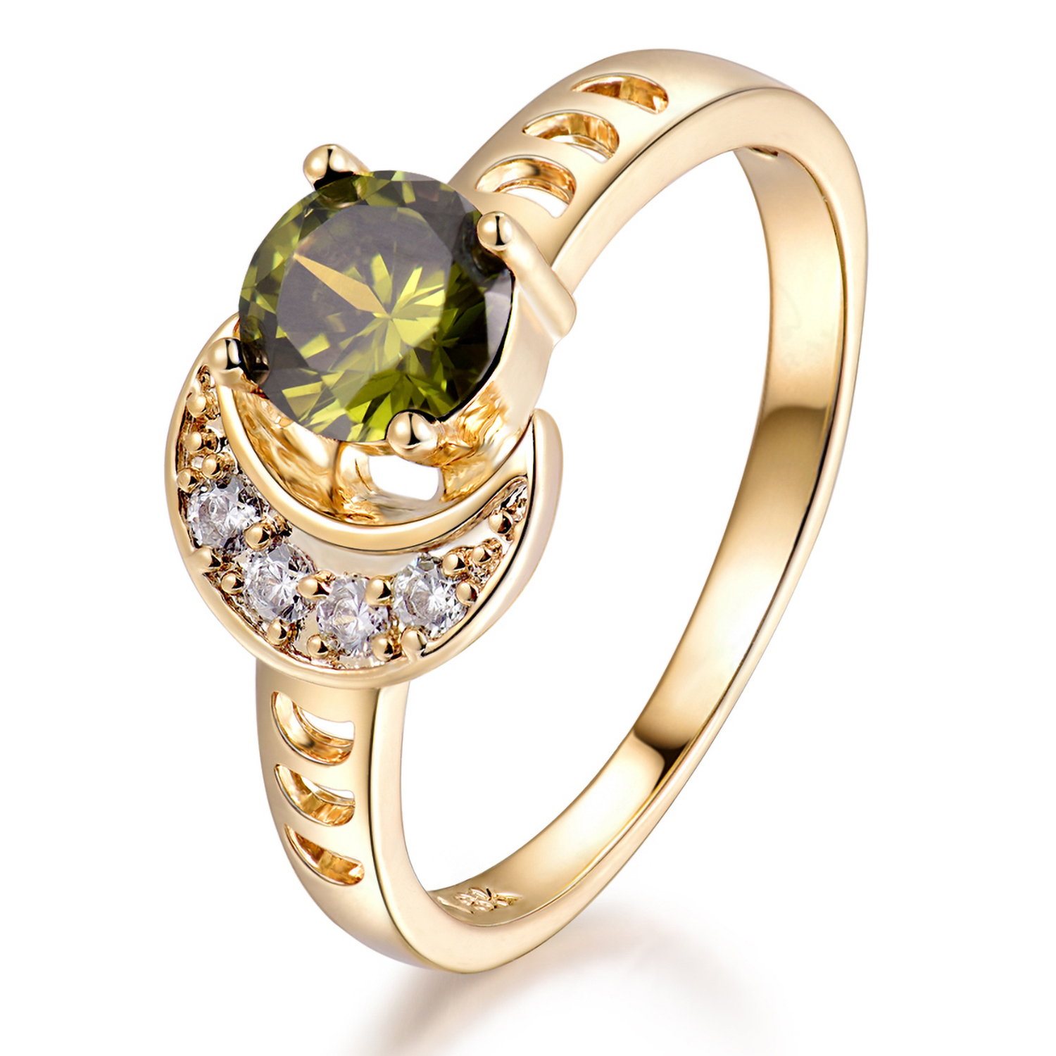 You may also like. Luxury Sun   Moon Olivine Green Crystal Gold Filled Women  ... ceb69530999d