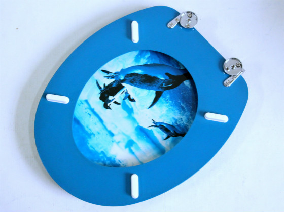 Penguin Printing Bath Accessories Safety Resin Toilet Seat Nice ...