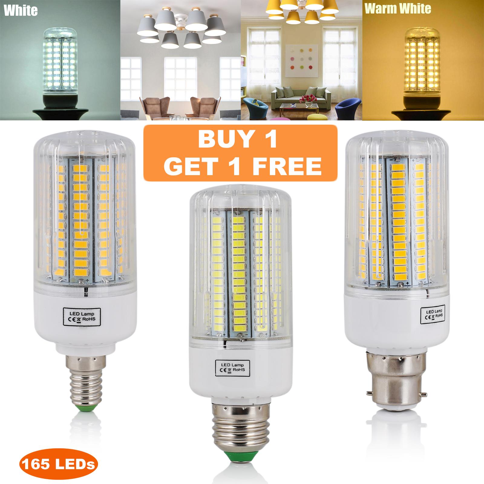 B22 30W 165 x 5730 SMD LED Capsule Bulbs White//Warm White Light Corn Bulb Light