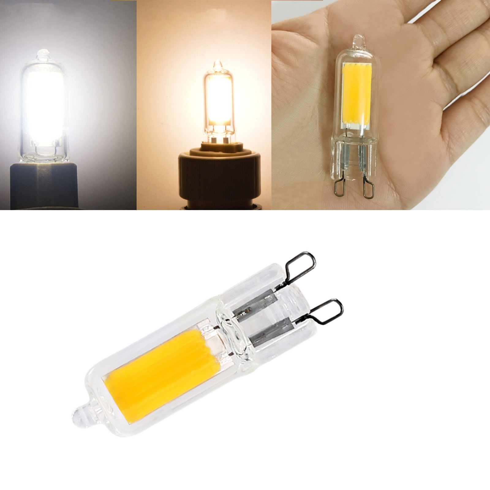 Mini G9 COB LED Bulbs 3W 5W Glass Crystal Light Replace 25W 45W Halogen Lamps