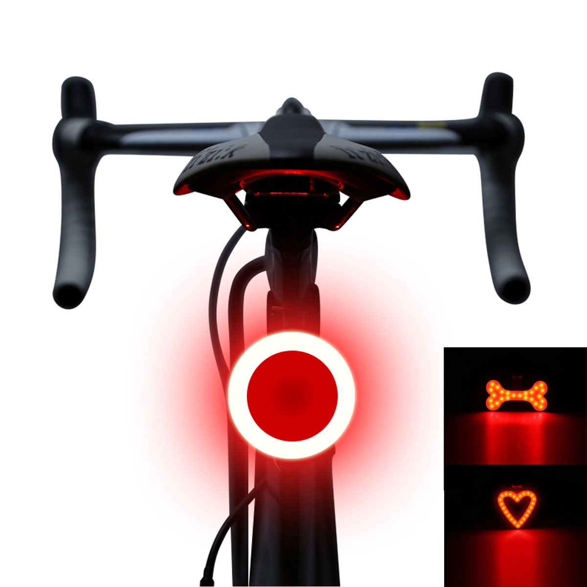 New Cycling Night Super Bright Red 2 LED Rear Tail Light Bike Bicycle Safety War