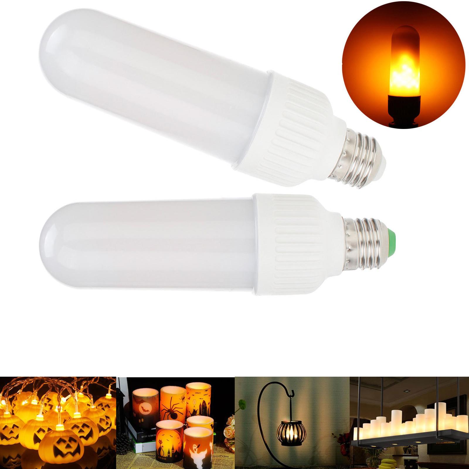 LED Flame Effect Simulated Nature Fire Light Corn Bulbs E26 E27 Xmas Decor Lamp