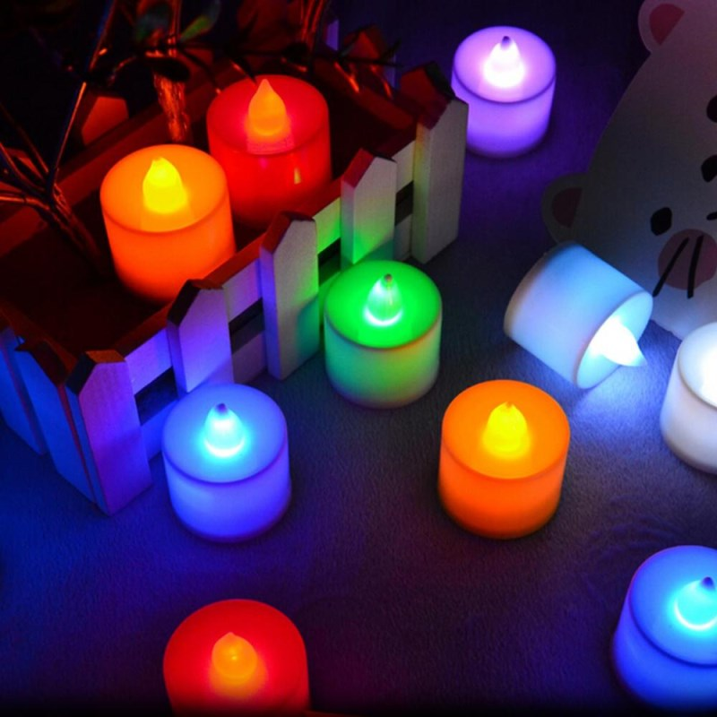 5x 25x LED Tea Light Electronic Flickering Candle Multicolor Home Table Decor ST