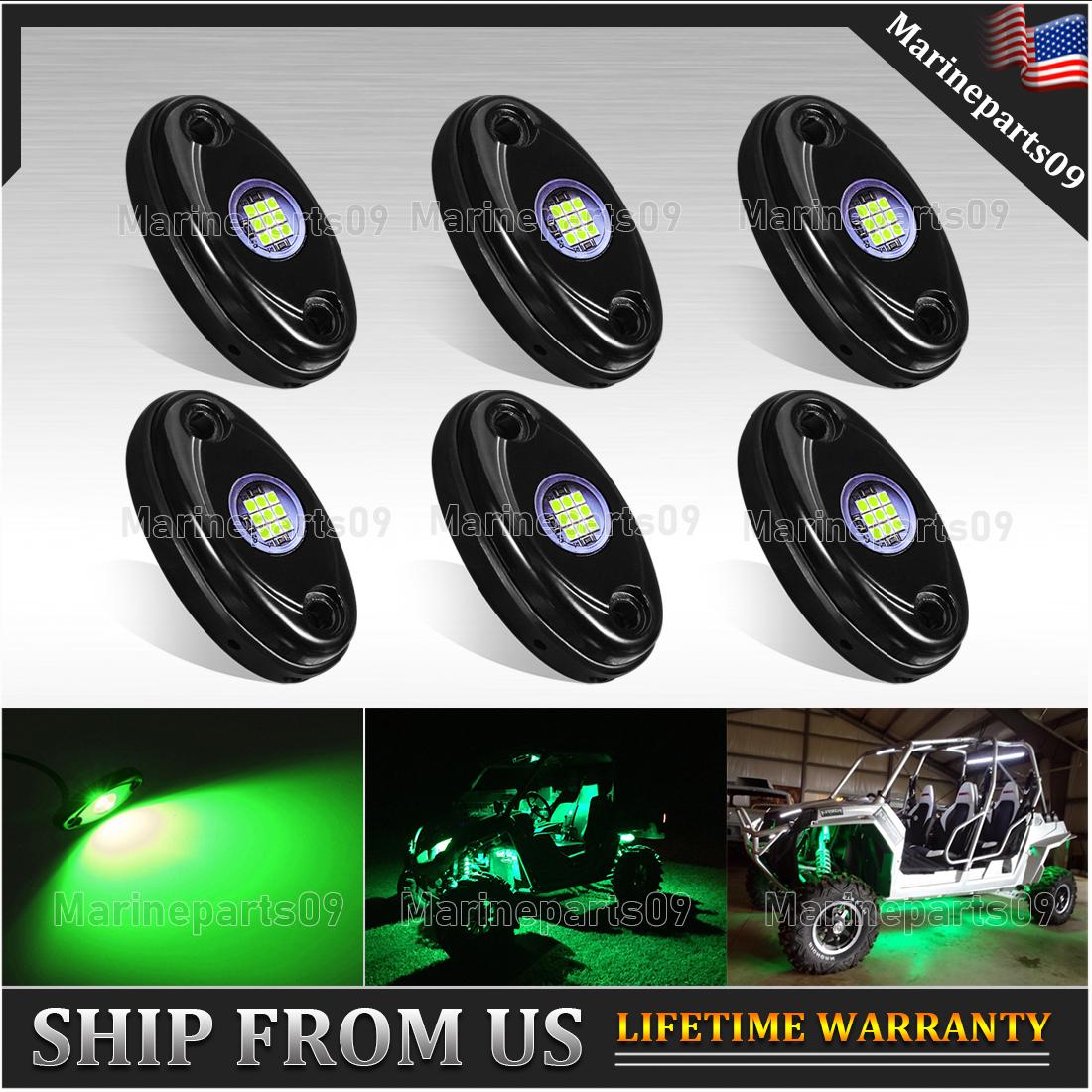 PSEQT 10 Pods LED Rock Lights Underbody Light for Ford Jeep Offroad Truck UTV ATV Boat White