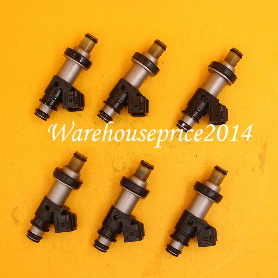 6PCS Fuel Injectors For Honda Accord Pilot Odyssey Acura TL MDX 3.0 3.5L 3.2L